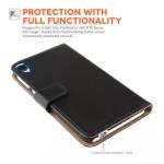Δερμάτινη θήκη- πορτοφόλι για HTC Desire 820 μαύρη