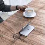 Baseus Wireless Charge Powerbank Qi 10000mAh - Φορητή Μπαταρία Ασύρματης Φόρτισης με Stand - White (200-104-668)