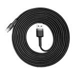 Baseus Cafule Cable Durable Nylon Braided Wire USB / USB-C QC3.0 2A 3M black-gray (CATKLF-UG1) (200-108-338)
