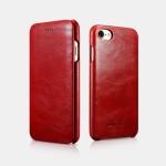 iCarer Vintage Curved Edge Δερμάτινη Θήκη iPhone 8 / 7 - Red (RIP 701)