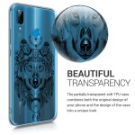 KW Θήκη Σιλικόνης Huawei P20 Lite - Spirit Wolf white / transparent (200-104-292)