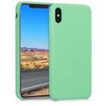 Θήκη σιλικόνης για iPhone XS Max - Peppermint Green by KW (200-104-873)