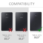 Θήκη-smart cover Samsung Galaxy Tab A 10.5 μαύρη by KW