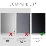 Θήκη-smart cover με stand για Huawei MediaPad T5 10 ανθρακί-μαύρη by KW