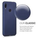 Θήκη σιλικόνης Metallic Blue για Xiaomi Redmi Note 7 by KW (200-104-224)