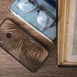 KW Σκληρή ξύλινη θήκη Huawei P Smart (2019) - Palm Leaves dark brown (200-104-877)