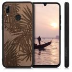 KW Σκληρή ξύλινη KW Σκληρή ξύλινη θήκη Huawei P Smart (2019) - Palm Leaves dark brown (200-104-877) Huawei P Smart (2019) - Palm Leaves dark brown (48117.10)