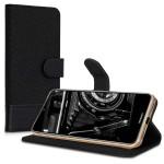 KW Θήκη Πορτοφόλι Huawei Y6 (2019) - Anthracite/Black (200-104-443)