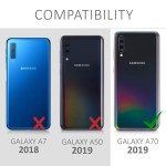 KW Θήκη Full Body για Samsung Galaxy A70 & Tempered Glass - Metallic Black (200-104-274)