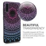Θήκη Σιλικόνης για Samsung Galaxy A70 - Indian Sun Blue/Dark Pink/Transparent by KW (200-104-273)