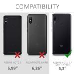 Θήκη σιλικόνης White/Black για Xiaomi Redmi Note 7 by KW (200-104-157)