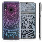 KW Θήκη Σιλικόνης Samsung Galaxy A40 - Blue/Dark Pink/Transparent (200-104-275)