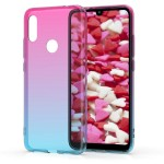 KW Θήκη Σιλικόνης για Xiaomi Redmi 7 - Bicolor dark pink / blue / transparent (200-104-719)