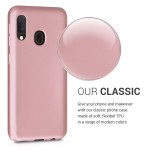 KW Θήκη Σιλικόνης Samsung Galaxy A20e - Metallic Rose Gold (200-104-154)