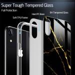ESR iPhone X/Xs Mimic Tempered Glass Case Marble Black Gold