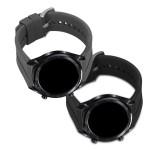 KW Σετ Λουράκια Σιλικόνης Huawei Watch GT (42mm) - Black & Grey - 2 τεμάχια (200-104-288)