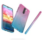 Θήκη Σιλικόνης για Xiaomi Redmi Note 8 Pro - Bicolor Design, Dark Pink / Blue / Transparent by KW (200-104-728)