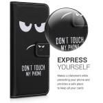 Θήκη πορτοφόλι μαύρη για Xiaomi Redmi Note 8 Pro Don't touch my phone by KW (200-104-723)