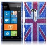 Θήκη Nokia Lumia 900 - Στρας Σημαία Λονδίνου