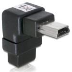 Delock Adapter Mini USB-B 5pin M/F 90° Angled (65097)