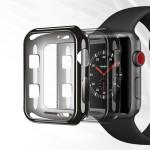 Dux Ducis μαύρη θήκη σιλικόνης για Apple Watch 2/3 42mm