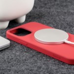 Crong Color Magnetic Θήκη MagSafe Premium Σιλικόνης Apple iPhone 12 Pro Max - Red (CRG-COLRM-IP1267-RED)