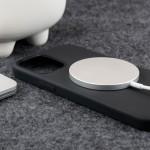 Crong Color Magnetic Θήκη MagSafe Premium Σιλικόνης Apple iPhone 12 / 12 Pro - Black (CRG-COLRM-IP1261-BLK)