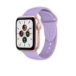 Crong Liquid Λουράκι Premium Σιλικόνης Apple Watch SE/6/5/4/3 (44/42mm) - Purple (CRG-44LQB-PRP)