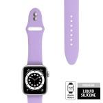 Crong Liquid Λουράκι Premium Σιλικόνης Apple Watch SE/6/5/4/3/2/1 (40/38mm) - Purple (CRG-40LQB-PRP)