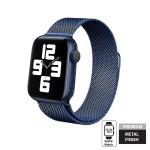 Crong Milano Steel - Premium Μεταλλικό Λουράκι Apple Watch SE/6/5/4/3 (44/42mm) - Navy Blue (CRG-44MST-BLU)