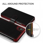 Verus Δερμάτινη Θήκη Πορτοφόλι iPhone Xs Max - Black