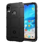 ΟΕΜ Anti Shock Rugged Armor Square Grid Tough Case Black για Huawei Y7 2019 / Y7 Prime 2019 - (200-104-944)