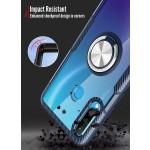 OEM Clear Carbon Case Ring για Huawei P30 Lite - Black (200-104-608)