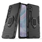 Ring Armor Case Kickstand Tough Rugged Cover for Xiaomi Redmi Mi Note 10 / Mi Note 10 Pro / Mi CC9 Pro - Black (200-105-688)