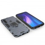 Ring Armor Case Kickstand Tough Rugged Cover for Xiaomi Redmi Note 8T - Blue (200-105-690)