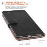 Δερμάτινη θήκη- πορτοφόλι για iPhone Plus/ 6S Plus μαύρη