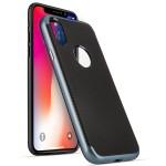Θήκη Carbon Fibre Gel Cover για iPhone X by Centopi Μπλε