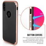 Θήκη Carbon Fibre Gel Cover για iPhone X by Centopi Rose Gold