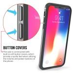 Θήκη Leather Look για iPhone X by Centopi γκρι και δώρο screen protector
