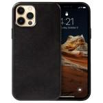 Crong Essential Eco Leather - Σκληρή Θήκη Apple iPhone 12 Pro Max - Black (CRG-ESS-IP1267-BLK)