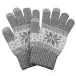 Γάντια για Οθόνη Αφής Γκρι Ανοιχτό Χειμωνιάτικο σχέδιο ΟΕΜ