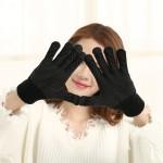 Γάντια για Οθόνη Αφής Μαύρα με αντιολισθητική επένδυση