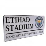 Μεταλλική διακοσμητική πινακίδα Manchester City F.C. - Επίσημο προϊόν