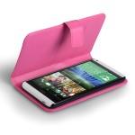 Θήκη- Πορτοφόλι για HTC Desire 816 ροζ