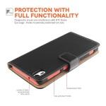 Δερμάτινη θήκη- πορτοφόλι για HTC Desire Eye μαύρη