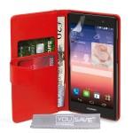 Θήκη- Πορτοφόλι για Huawei Ascend P7 YouSave κόκκινο