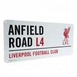 Μεταλλική πινακίδα οδού της Liverpool F.C