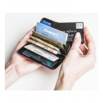 Ögon θήκη καρτών-πορτοφόλι με RFID protection - Stockholm Big Dark Grey