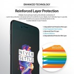 Ringke Invisible Defender 2-Pack Case Friendly Screen Protector for OnePlus 5