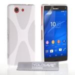 Θήκη σιλικόνης για Sony Xperia Z3 Compact λευκή